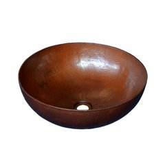 "16"" Round Maestro Vessel Bathroom Sink - Antique Copper"
