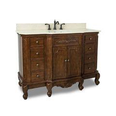 """50"""" Clairemont Single Sink Bathroom Vanity - Nutmeg"""