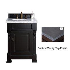 """26"""" Brookfield Vanity w/Black Rustic Top - Antique Black"""
