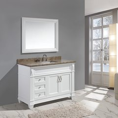 "48"" Hudson Single Sink Bathroom Vanity w/ Carrara Top -White"