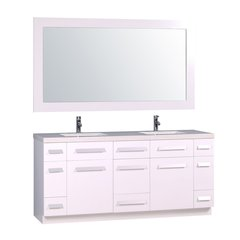 "72"" Moscony Double Sink Bathroom Vanity Set - White"