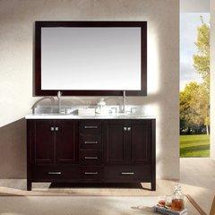 "61"" Cambridge Double Sink Bathroom Vanity - Espresso"