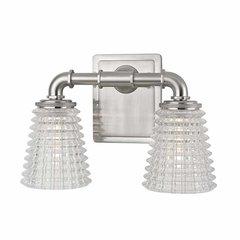 Westbrook 2 Light Bathroom Vanity Light - Satin Nickel