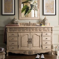 "60"" St. James Single Vanity w/Galala Beige Top-Empire Linen"