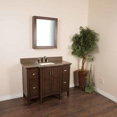 "45"" Single Sink Bathroom Vanity - Sable Walnut/Taupe Top"