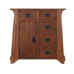 "34"" Pasadena Single Sink Cabinet Only w/o Top - Antique Oak"