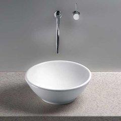 """17"""" x 17"""" Larissa Above Counter Bathroom Sink - Cotton White"""