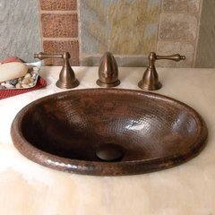 "15-1/2"" x 12"" Rolled Baby Classic Drop-In Bath Sink - Copper"
