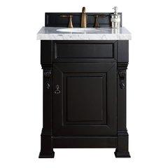 "26"" Brookfield Vanity w/ Carrara White Top - Antique Black"