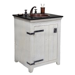 "24"" Paloma Vanity Suite w/ Antique Sink - Whitewash"