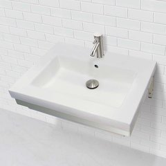 "18-1/4"" x 23-1/2"" Wall Mount Bathroom Sink - White"