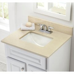 "25"" x 22"" Single Bowl Vanity Top Only w/ Basin - Crema"