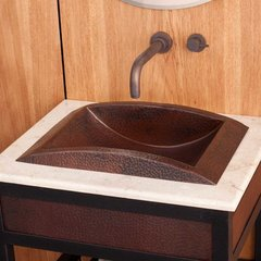 "20"" x 13"" Eclipse Drop-In Bathroom Sink - Antique Copper"