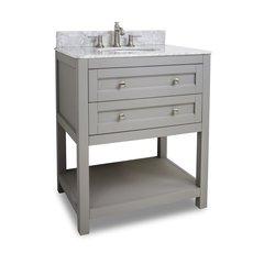 "30"" Astoria Modren Single Sink Bathroom Vanity - Gray"