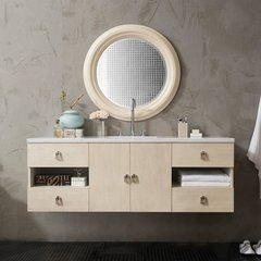 "60"" Sonoma Single Vanity Cabinet Only-Vanilla Oak"