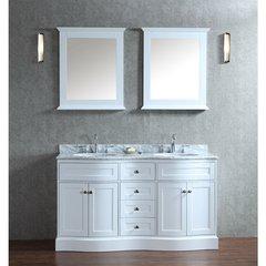 "60"" Seacliff Montauk Double Sink Vanity - Alpine White"