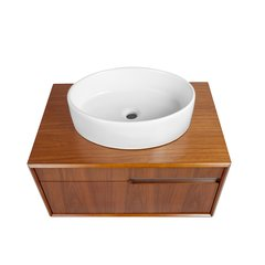 "29-2/5"" Cityscape Wallmount Vessel Sink Vanity - Walnut"