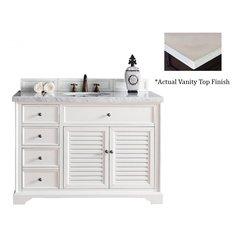 "48"" Savannah Single Vanity w/Galala Beige Top -Cottage White"