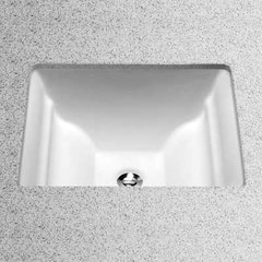 "19"" x 17"" Undermount Bathroom Sink - Cotton White"
