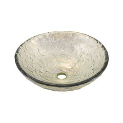 "16"" x 5-1/2"" Vessel Bathroom Sink - Crystal Reflections"