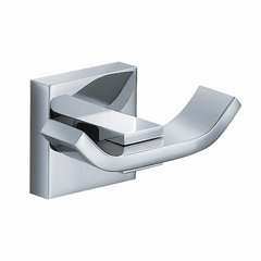 Aura Double Bathroom Hook Chrome