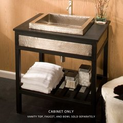 "30"" Cuzco Iron Vanity Cabinet Only w/o Top - Brushed Nickel"