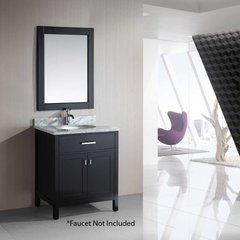 "30"" London Single Sink Bathroom Vanity - Espresso"