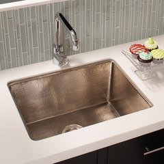 "24"" x 18"" Cocina Undermount Kitchen Sink - Brushed Nickel"