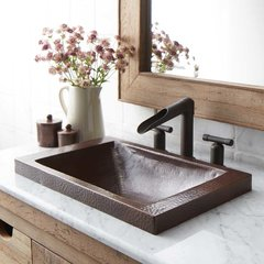 "20"" x 13"" Hana Drop-In Bathroom Sink - Antique Copper"