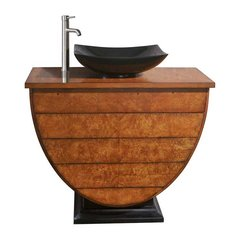 "40"" Legacy Vessel Sink Bathroom Vanity - Golden Burl"