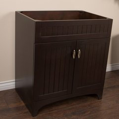 "31"" Single Sink Cabinet Only w/o Top - Sable Walnut"