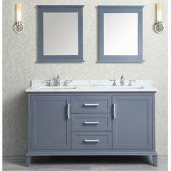 "60"" Seacliff Nantucket Single Sink Vanity - Whale Gray"