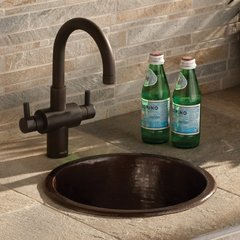 "12-1/2"" Round Diego Universal Mount Bar Sink- Antique Copper <small>(#CPS235)</small>"