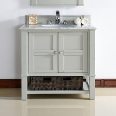 """36"""" Madison Single Vanity Cabinet Only-Dove Gray"""
