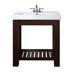"30"" Lexi Single Vanity w/Vitreous China Top - Light Espresso"