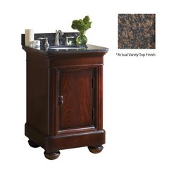 "24"" Mount Vernon Single Sink Vanity w/ Brown Top - Merlot"