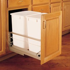 Double Trash Pullout 35 Quart-White