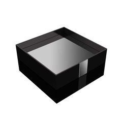 One Square Vanity Tray Black
