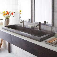 "48"" x 19"" Trough Drop-In Bathroom Sink - Ash"