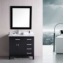 "36"" London Single Sink Bathroom Vanity - Espresso"
