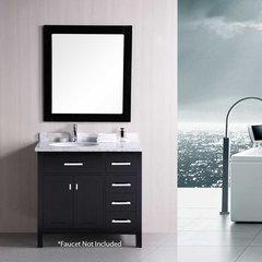 "36"" London Single Sink Bathroom Vanity - Espresso"