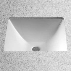 "19"" x 17"" Undermount Bathroom Sink - Cotton White Sultana"