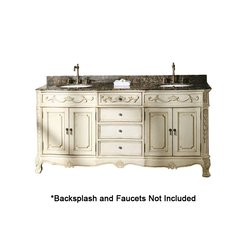"72"" Classico Double Sink Bathroom Vanity - White"