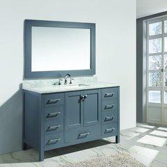 """54"""" London Single Sink Bathroom Vanity - Gray"""