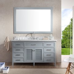 "61"" Kensington Single Sink Bathroom Vanity - Gray"