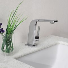 Novus One Handle Single Hole Bathroom Faucet - Chrome