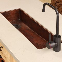 "27"" x 8"" Rio Chico Undermount Bar Sink - Antique Copper"