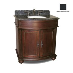 "36"" Arlington Single Sink Vanity - Distressed Cherry/Black"