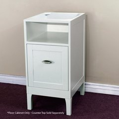 "16"" Floor Cabinet w/o Top - White"