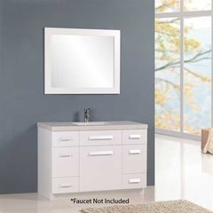 "48"" Moscony Single Sink Bathroom Vanity - White"